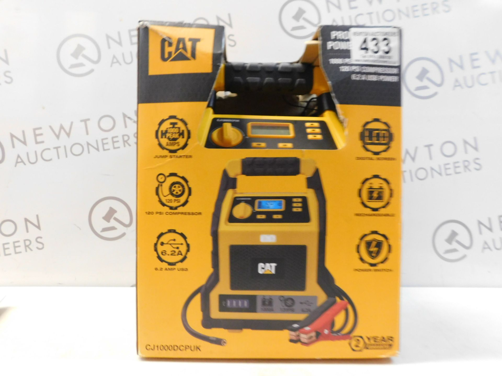 Lot 433 - 1 BOXED CAT 3-IN-1 PROFESSIONAL POWERSTATION WITH JUMP STARTER, USB & COMPRESSOR RRP £129.99