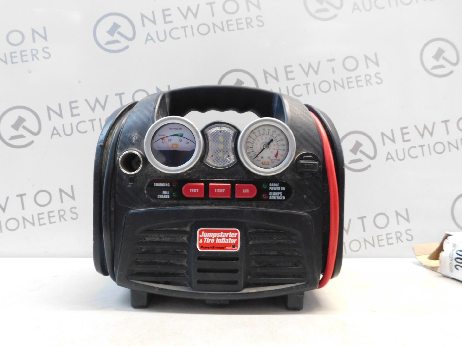 Lot 108 - 1 POWERSTATION PSX3 BATTERY JUMPSTARTER WITH BUILT IN LIGHT AND COMPRESSOR RRP £159