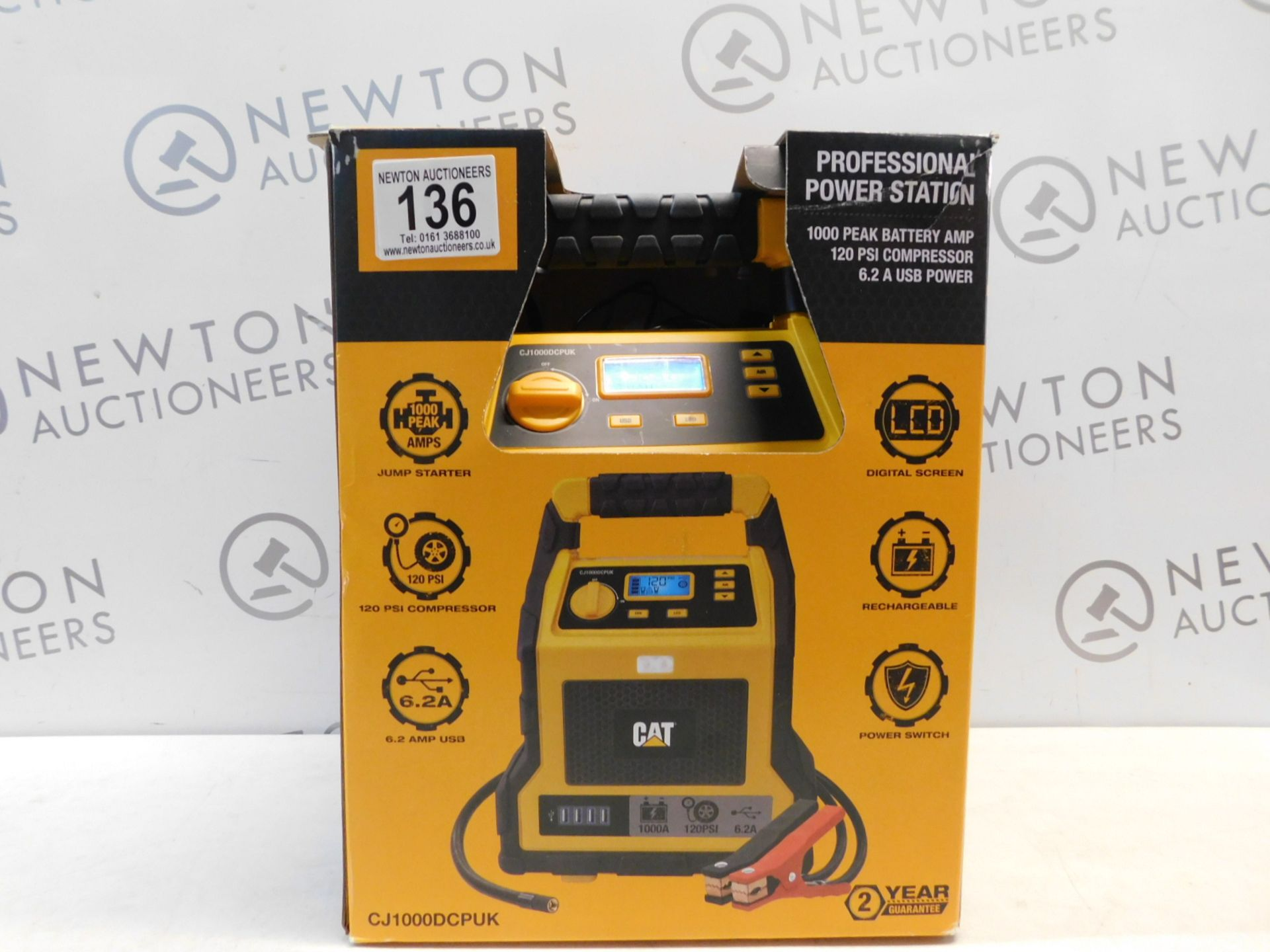 Lot 136 - 1 BOXED CAT 3-IN-1 PROFESSIONAL POWERSTATION WITH JUMP STARTER, USB & COMPRESSOR RRP £129.99