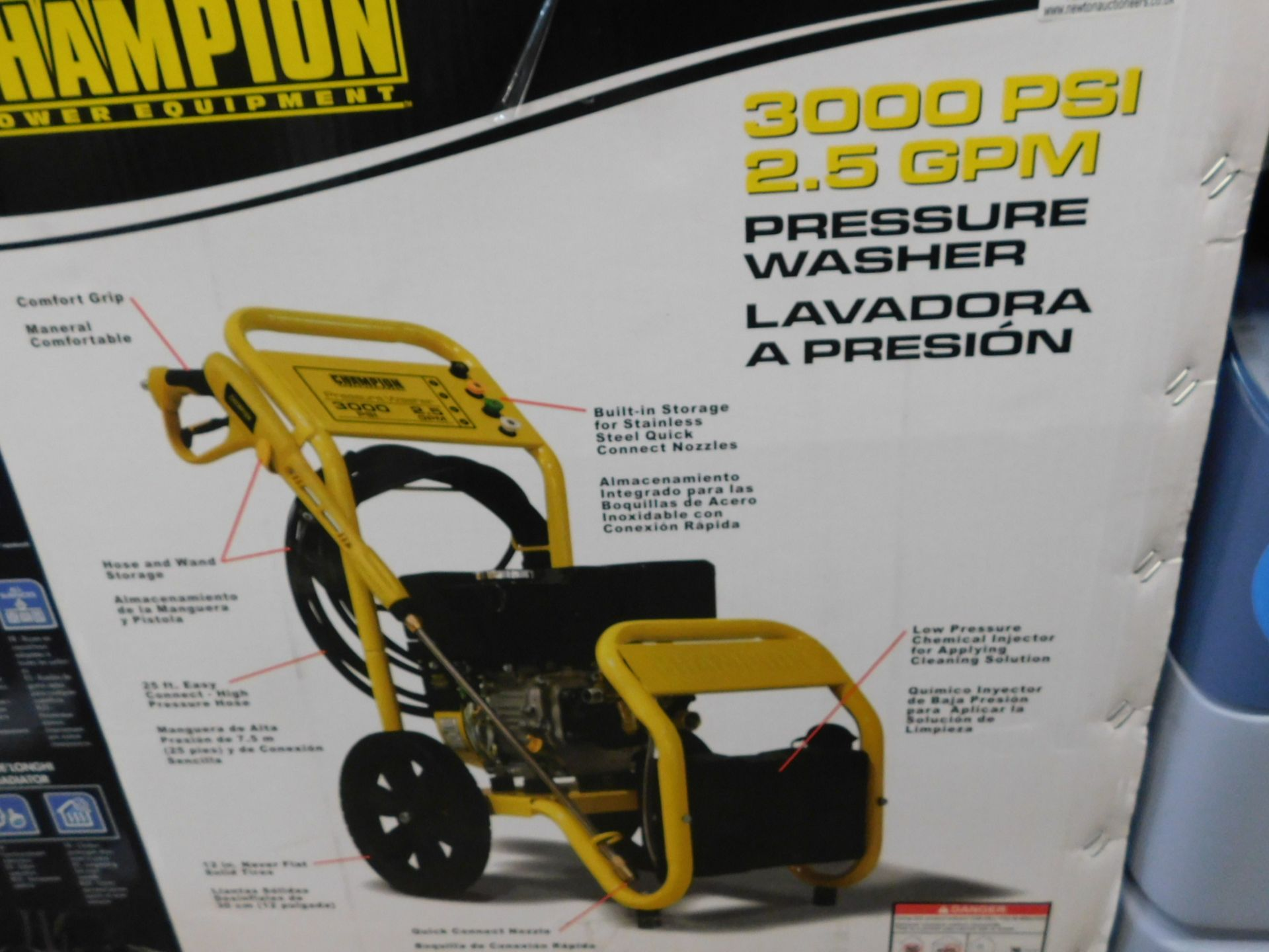 Lot 634 - 1 BOXED CHAMPION 3000 PSI PETROL HIGH PRESSURE WASHER RRP £499