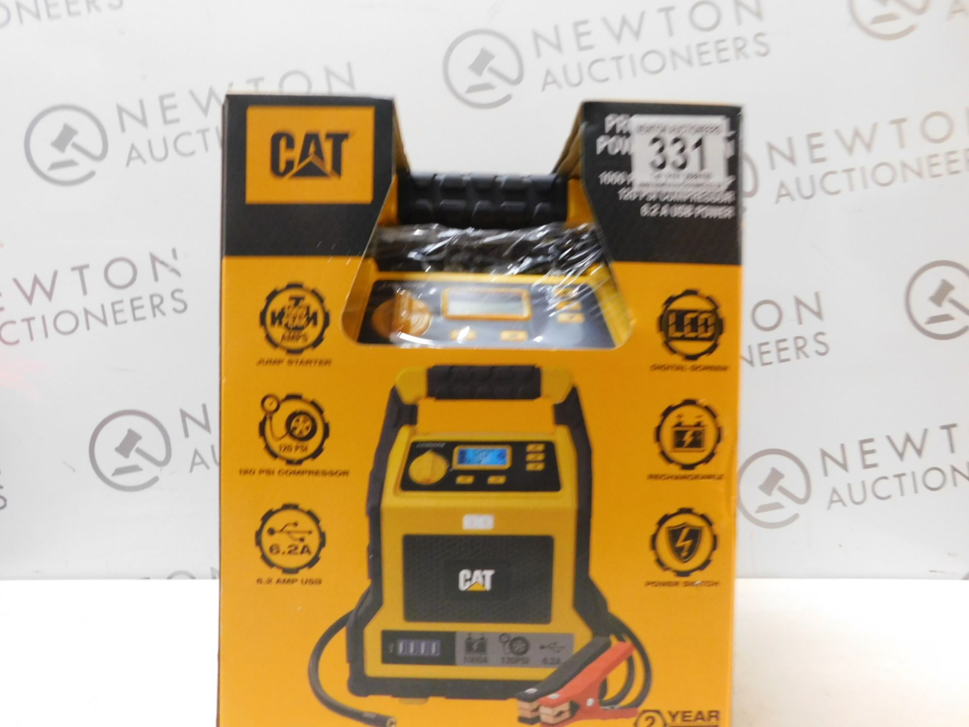 Lot 331 - 1 BOXED CAT 3-IN-1 PROFESSIONAL POWERSTATION WITH JUMP STARTER, USB & COMPRESSOR RRP £129.99