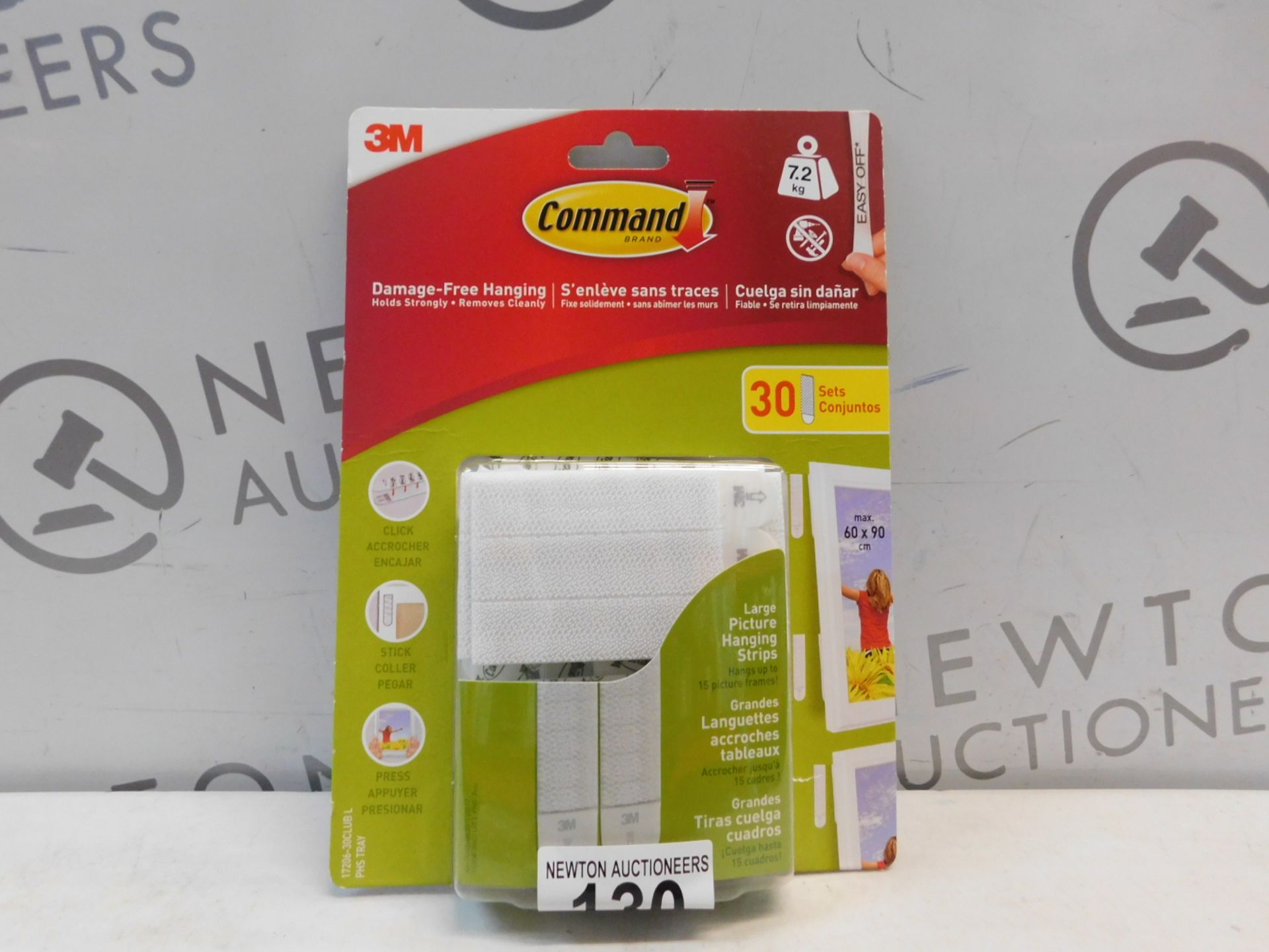 Lot 130 - 1 PACK OF COMMAND BRAND DAMAGE-FREE HANGING STRIPS RRP £12.99
