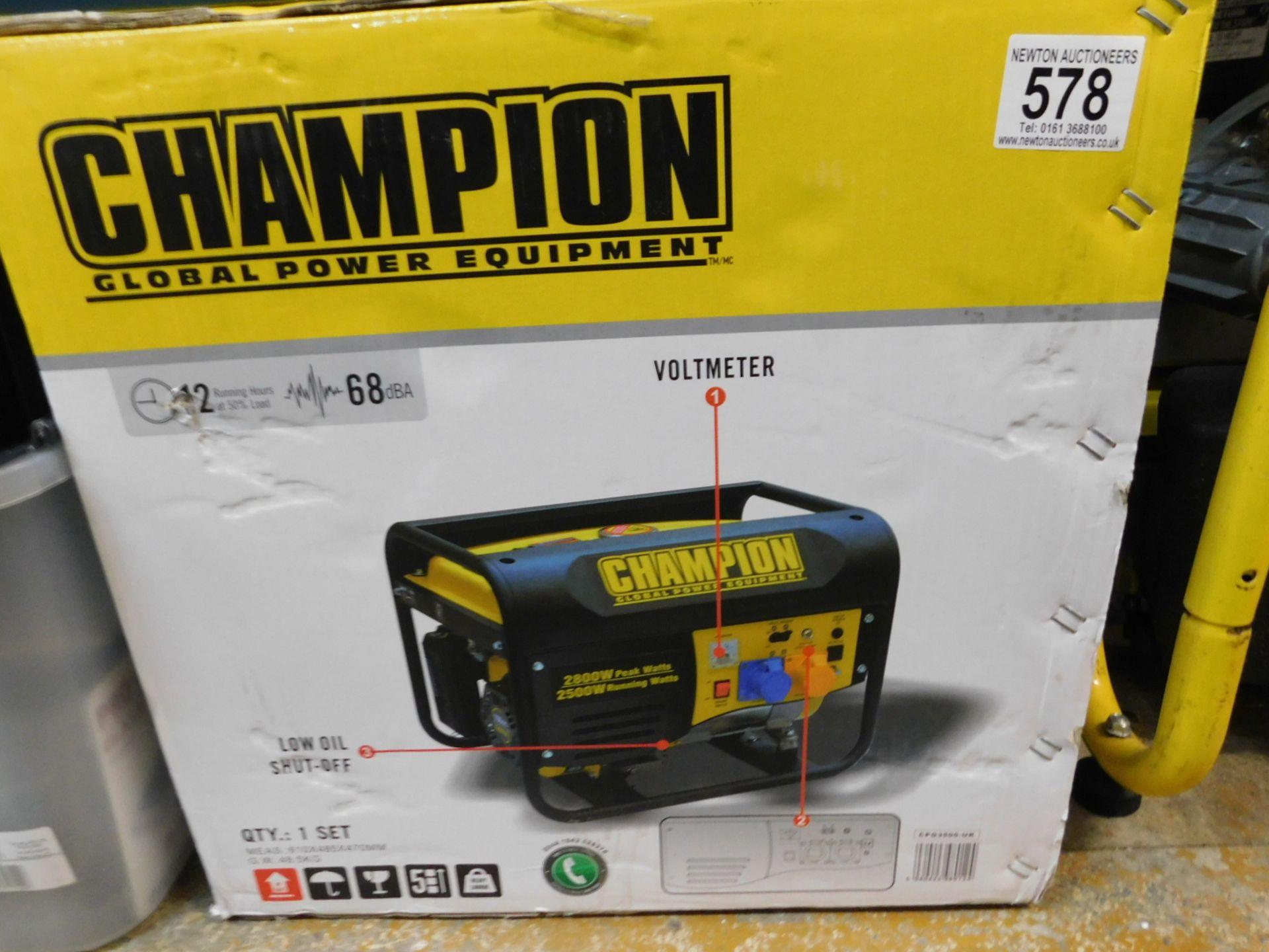 Lot 578 - 1 BOXED CHAMPION 196CC CPG3500 50HZ 120/240V PETROL GENERATOR RRP £349.99