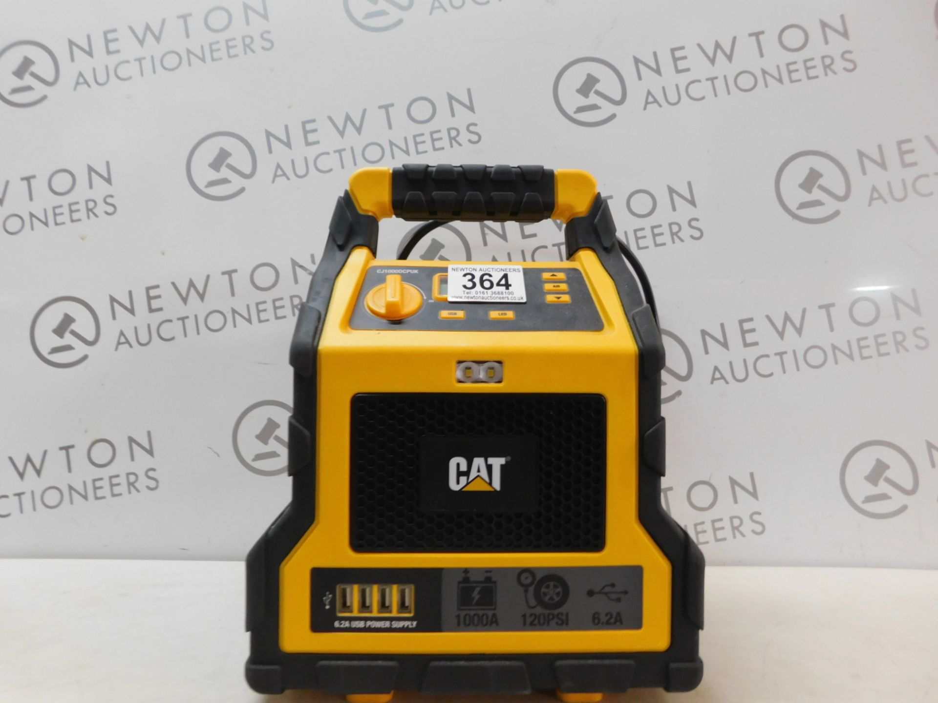 Lot 364 - 1 CAT 3-IN-1 PROFESSIONAL POWERSTATION WITH JUMP STARTER, USB & COMPRESSOR RRP £129.99