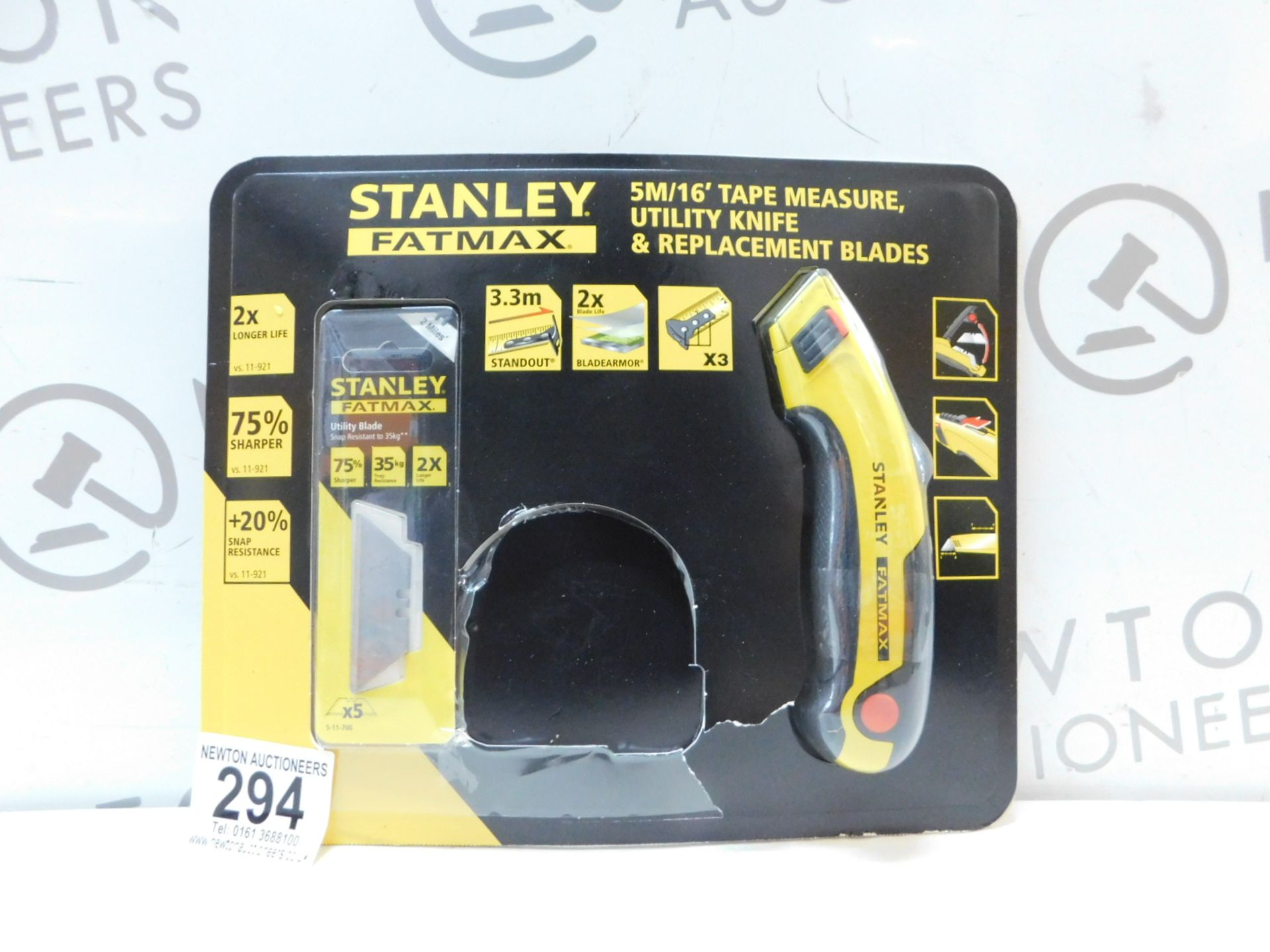 Lot 294 - 1 PACK OF STANLEY FATMAX UTILITY KNIFE & REPLACEMENT BLADES RRP £29.99