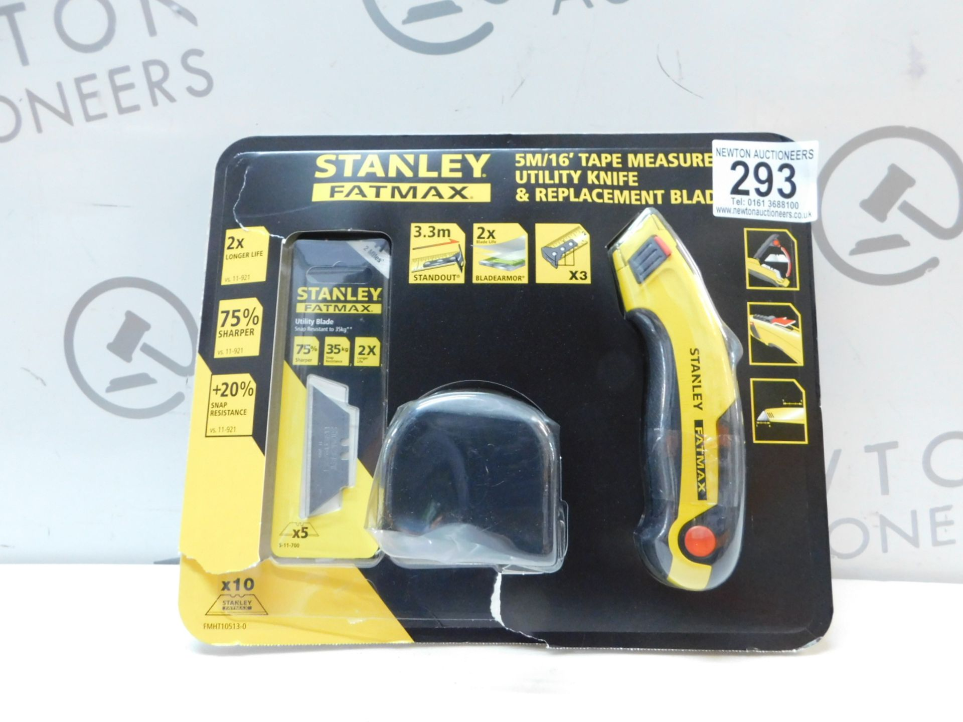Lot 293 - 1 PACK OF STANLEY FATMAX UTILITY KNIFE & REPLACEMENT BLADES RRP £29.99