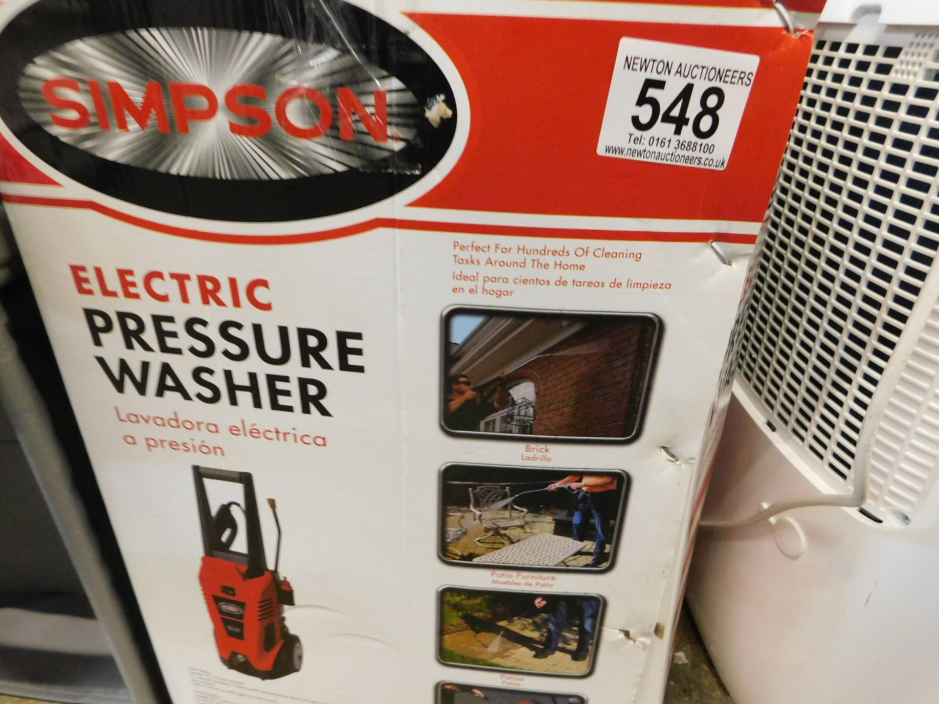 Lot 548 - 1 BOXED SIMPSON 13SIE-170UK ELECTRIC PRESSURE WASHER 1700 PSI RRP £179.99