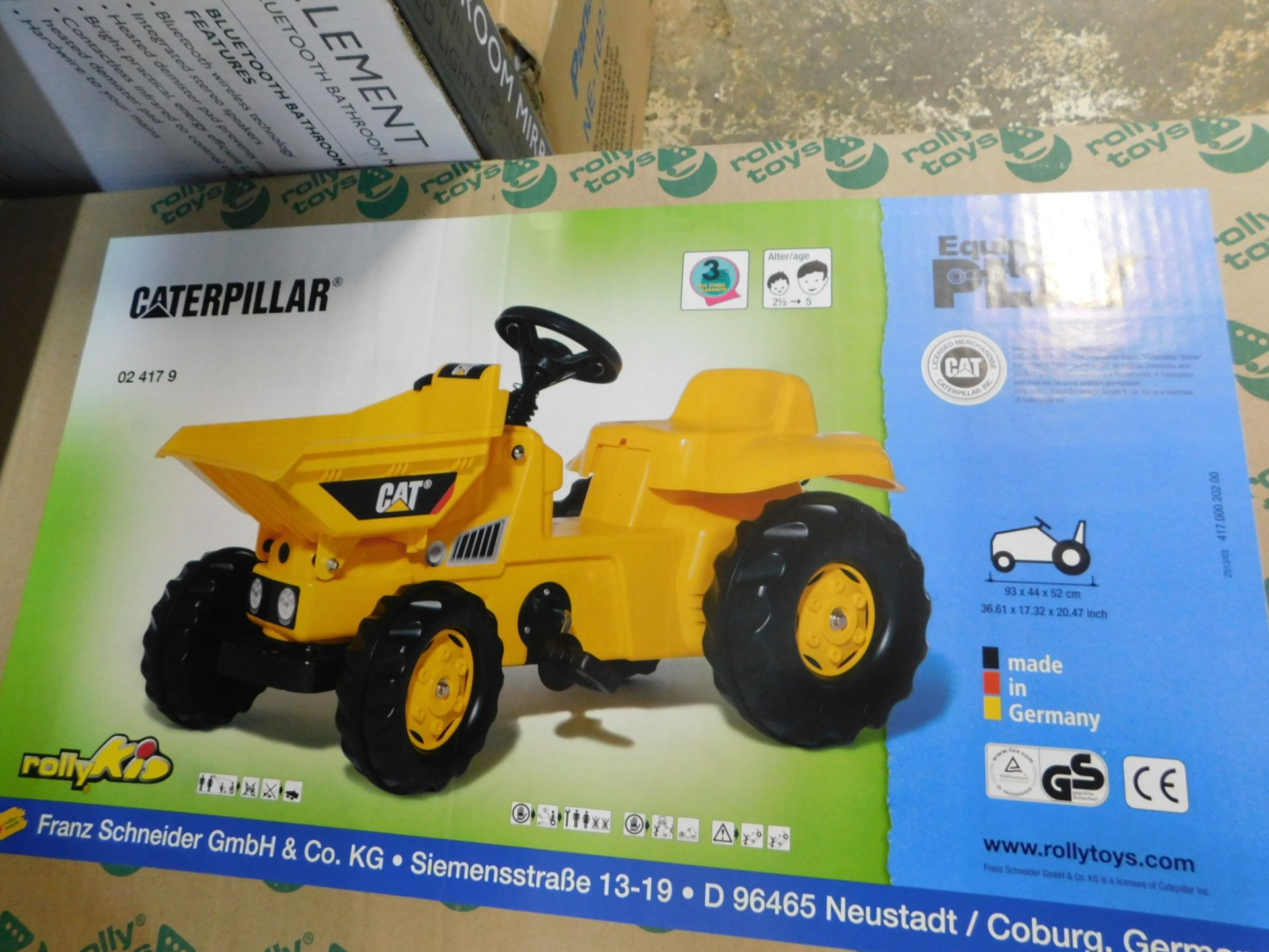 Lot 368 - 1 BOXED ROLLY KID CATERPILLAR DUMPER PEDAL RIDE ON RRP £119.99