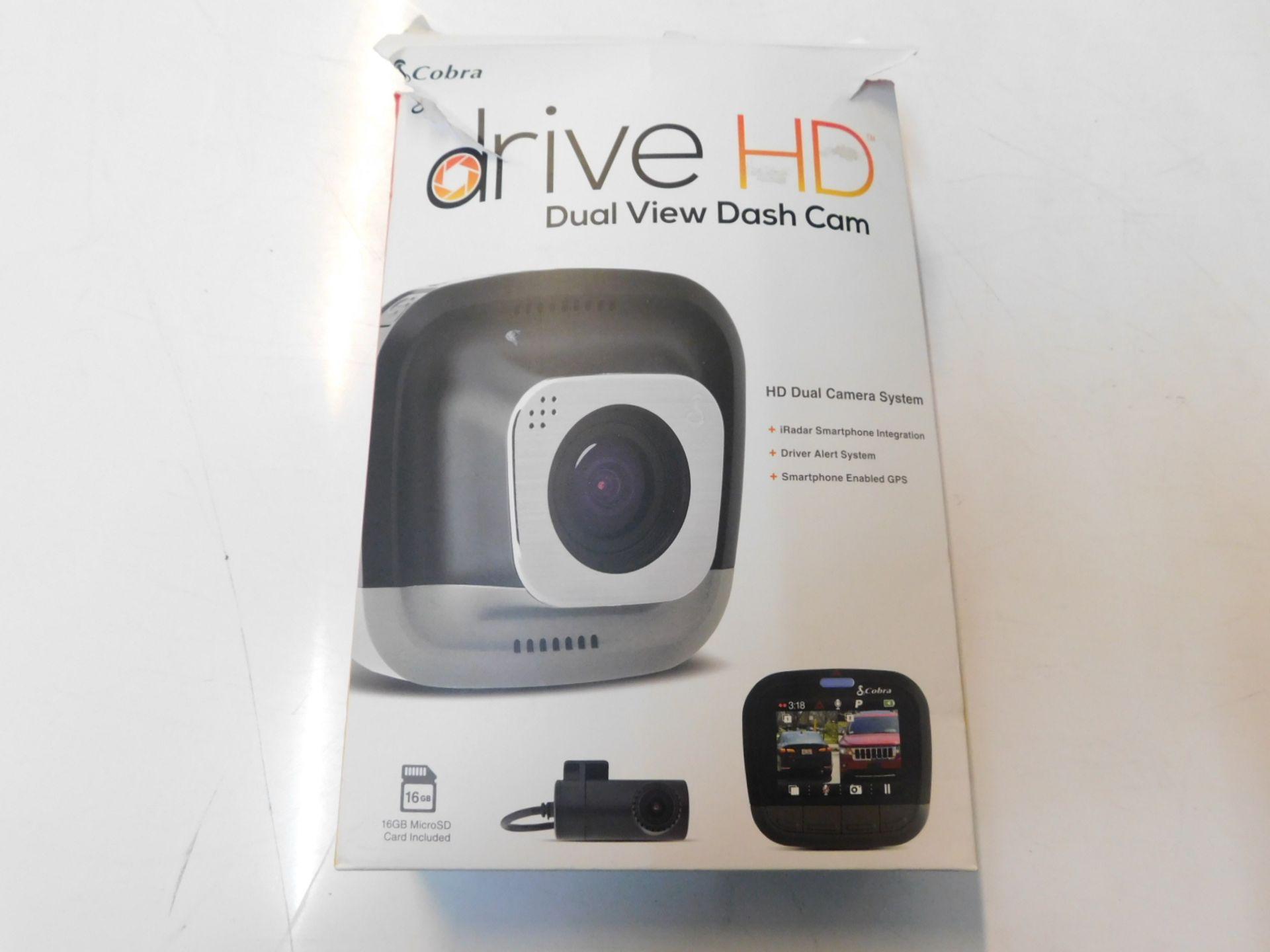 Lot 815 - 1 PACK OF COBRA DRIVE HD DUAL VIEW DASH CAM RRP £199