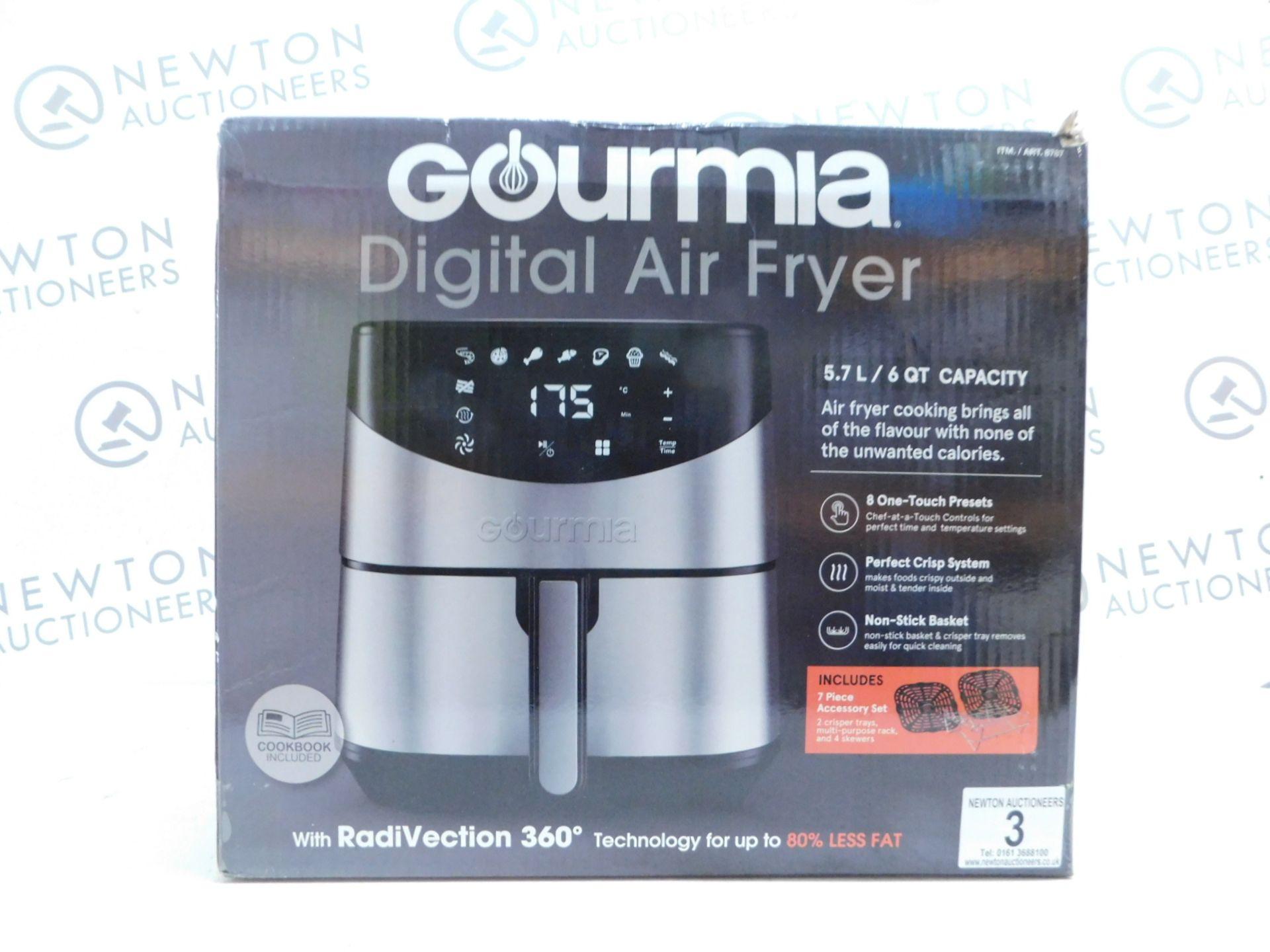 Lot 3 - 1 BOXED GOURMIA 5.7L DIGITAL AIR FRYER RRP £89.99