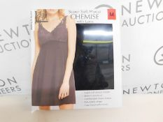 1 BOXED JEZEBEL SUPER SOFT BLACK LACE CHEMISE SIZE M RRP £29.99