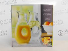 1 BOXED SET OF 2 GLASS CARAFES RRP £29.99
