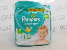 1 PACK OF PAMPERS SIZE 7 58 PREMIUM NAPPIES RRP £12.99
