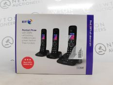 1 BOXED BT PREMIUM TRIO CORDLESS PHONE SET RRP £89.99