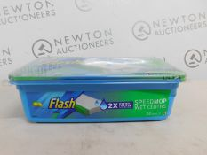 1 BOX OF FLASH SPEEDMOP WET MOPPING CLOTHS RRP £12.99