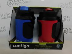 1 BOXED 2PK CONTIGO AVEX POWERADE JUMBO 1.89L DRINKS BOTTLES RRP £39.99