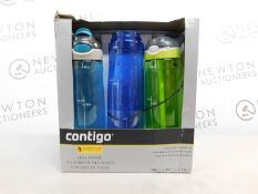 1 BOXED 3PK AVEX CONTIGO AUTOSPOUT DRINKS BOTTLES RRP £39.99