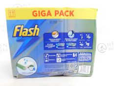 1 BOXED FLASH SPEEDMOP GIGA PACK WITH WET MOPPING CLOTHS RRP £44.99