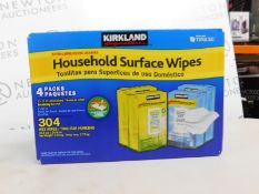 1 BOXED KIRKLAND SIGNATURE 4PK HOUSEHOLD SURFACE WIPES RRP £29.99