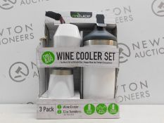 1 BOXED REDUCE 3PK WINE COOLER SET RRP £29.99