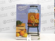 1 BOXED AMERICANA MASON CRAFT & MORE 11L GLASS DRINKS DISPENSER RRP £49.99