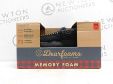 1 BOXED PAIR OF DEARFORMS MENS SLIPPERS UK SIZE 8.5 RRP £34.99