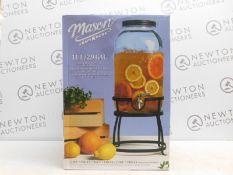 1 BOXED AMERICANA MASON CRAFT & MORE 11L GLASS DRINKS DISPENSER RRP £49.99