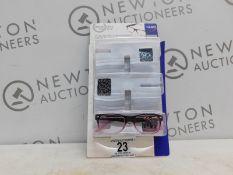 1 PACK (1 IN BOX) OF DESIGN OPTICS READING GLASSES IN +2.50 STRENGTH RRP £19.99