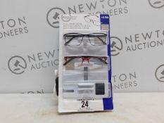 1 PACK (2 IN BOX) OF DESIGN OPTICS READING GLASSES IN +2.50 STRENGTH RRP £19.99