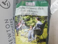1 BAGGED RIO BRANDS OUTDOOR SWINGING CHAIR RRP £64.99