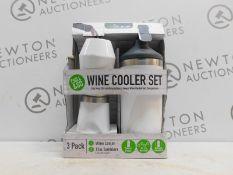 1 BOXED REDUCE 3PK WINE COOLER SET RRP £29.99