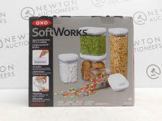 1 BOXED OXO GOOD GRIPS 5-PIECE AIRTIGHT POP CONTAINER SET £59.99