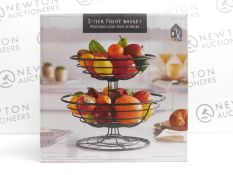 1 BOXED MESA INSPIRED LIVING 2-TIER STORAGE BASKETS RRP £39.99