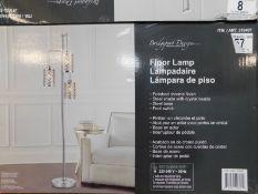 1 BOXED BRIDGEPORT DESIGNS GISELE CRYSTAL 3 ARM FLOOR LAMP RRP £129.99