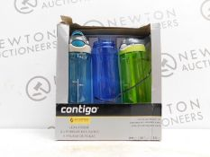 1 BOXED 3PK AVEX CONTIGO AUTOSPOUT DRINKS BOTTLES RRP £39.99