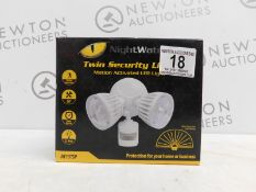 1 BOXED NIGHTWATCHER NE15TSP MOTION ACTIVATED TWIN SECURITY LIGHT RRP £89.99