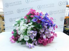 1 HANGING BASKET WITH ARTIFICIAL FLOWERS RRP £29.99