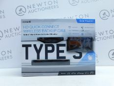 1 BOXED TYPE-S SOLAR POWERED REAR VIEW CAMERA WITH MONITOR RRP £149.99