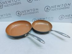 1 SET OF 2 GOTHAM STEEL PRO NON-STICK TITANIUM CERAMIC FRYING PANS RRP £49.99