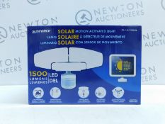 1 BOXED SUNFORCE 1500 LUMEN LED TRIPLE HEAD SOLAR MOTION ACTIVATED SECURITY RRP £49.99