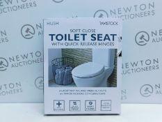 1 BOXED TAVISTOCK HUSH SOFT CLOSE QUICK RELEASE TOILET SEAT RRP £39.99