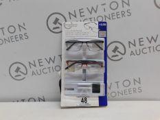 1 PACK OF DESIGN OPTICS READING GLASSES IN +2.50 STRENGTH RRP £19.99