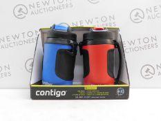 1 BOXED 2PK CONTIGO AVEX POWERADE JUMBO DRINKS BOTTLES RRP £39.99
