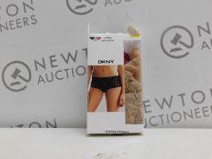 1 BOXED DKNY 3PK LACE BIKINI SIZE M RRP £39.99