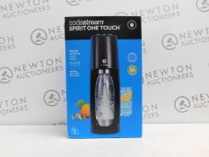 1 BOXED SODASTREAM SPIRIT ONE TOUCH ELECTRIC SPARKLING WATER MAKER RRP £129.99