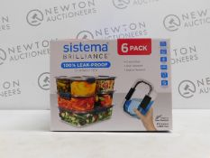 1 BOXED SISTEMA 6 PIECE (APPROX) FOOD STORAGE CONTAINER SET RRP £24.99