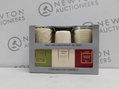 3 BOXED TORC VARIETY FRAGRANCED CANDLES RRP £34.99