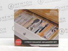1 BOXED COPCO 2PC DRAWER ORGANISER SET RRP £24.99