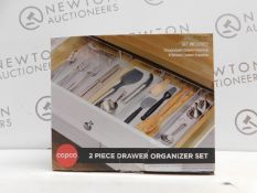 1 BOXED COPCO 2PC DRAWER ORGANISER SET RRP £24.99