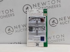 1 PACK OF DESIGN OPTICS READING GLASSES IN +2.00 STRENGTH RRP £19.99